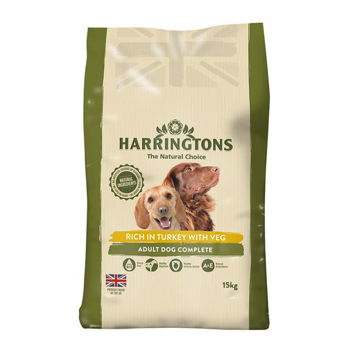 Harringtons Dry Dog Food - Rich In Turkey With Veg - 15kg - PetMonkey