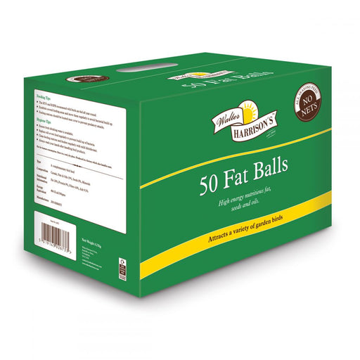 Harrisons Loose Wild Bird Fat Balls - 50 - PetMonkey