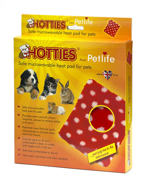 Petlife Hotties Microwavable Cat / Dog Heat Pad - Red Polka Dot - PetMonkey