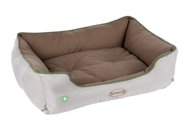 Scruffs Insect Shield Box Dog Bed - Taupe - L - PetMonkey