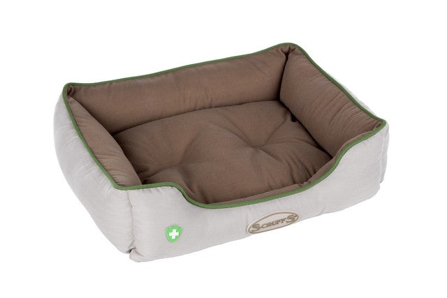 Scruffs Insect Shield Box Dog Bed - Taupe - S - PetMonkey