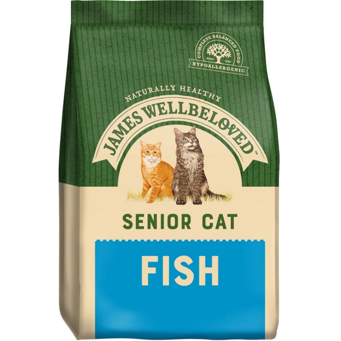James Wellbeloved Senior Dry Cat Food - Fish - 4kg - PetMonkey