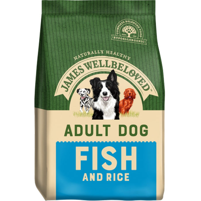James Wellbeloved Adult Dry Dog Food - Fish & Rice - 15kg - PetMonkey