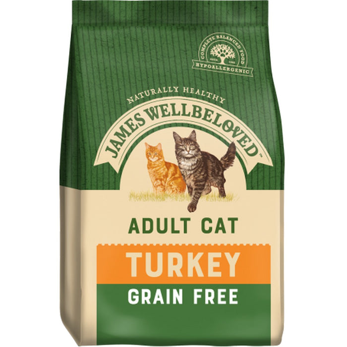 James Wellbeloved Adult Grain Free Dry Cat Food - Turkey - 1.5kg - PetMonkey