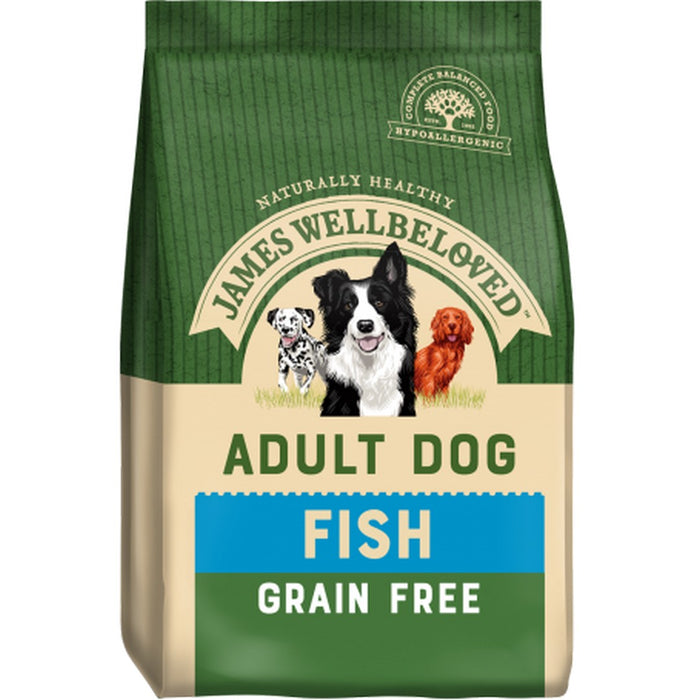 James Wellbeloved Adult Grain Free Dry Dog Food - Fish - 10kg - PetMonkey