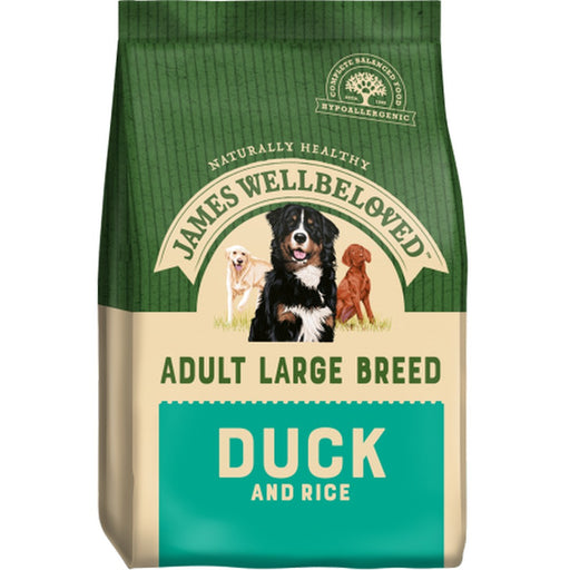 James Wellbeloved Adult Large Breed Dry Dog Food - Duck & Rice - 15kg - PetMonkey