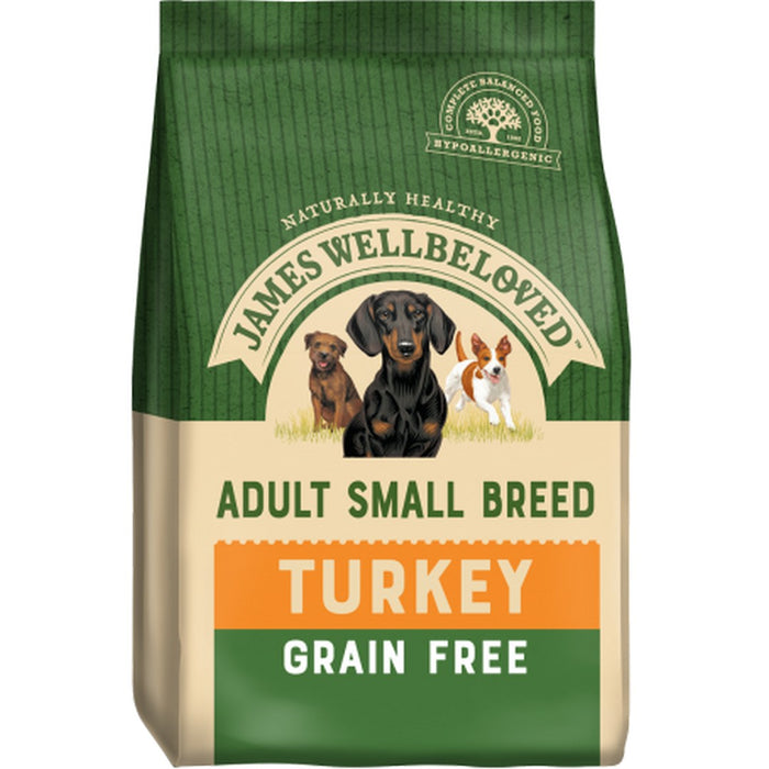 James Wellbeloved Adult Small Breed Grain Free Dry Dog Food - Turkey - 7.5kg - PetMonkey