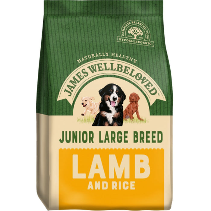 James Wellbeloved Junior Large Breed Dry Dog Food - Lamb & Rice - 15kg - PetMonkey