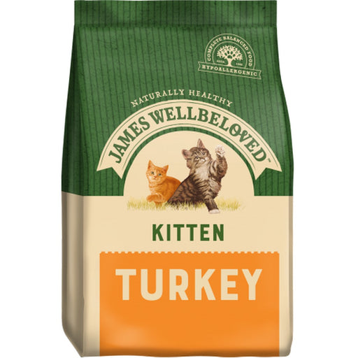 James Wellbeloved Kitten Dry Cat Food - Turkey - 1.5kg - PetMonkey