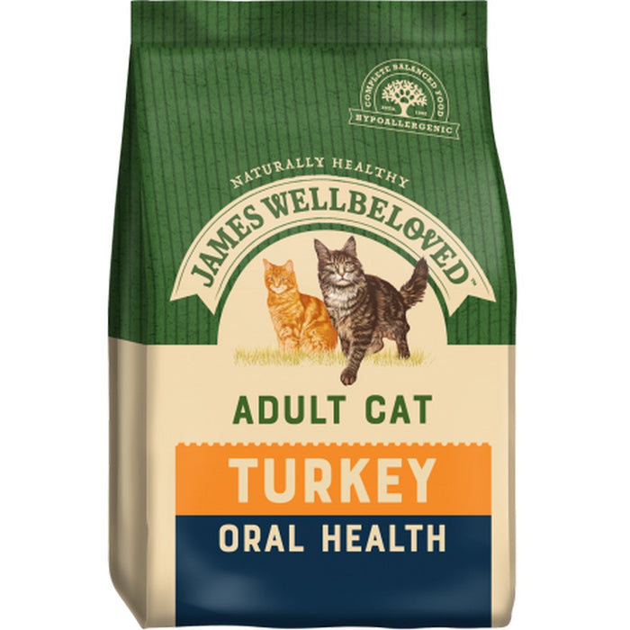 James Wellbeloved Oral Health Dry Cat Food - Turkey - 4kg - PetMonkey