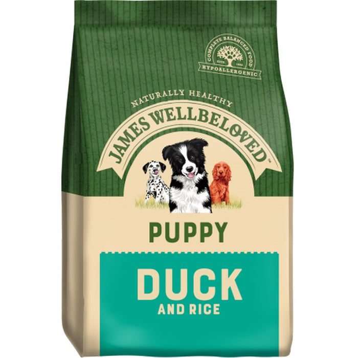 James Wellbeloved Puppy Dry Dog Food - Duck & Rice -  7.5kg - PetMonkey