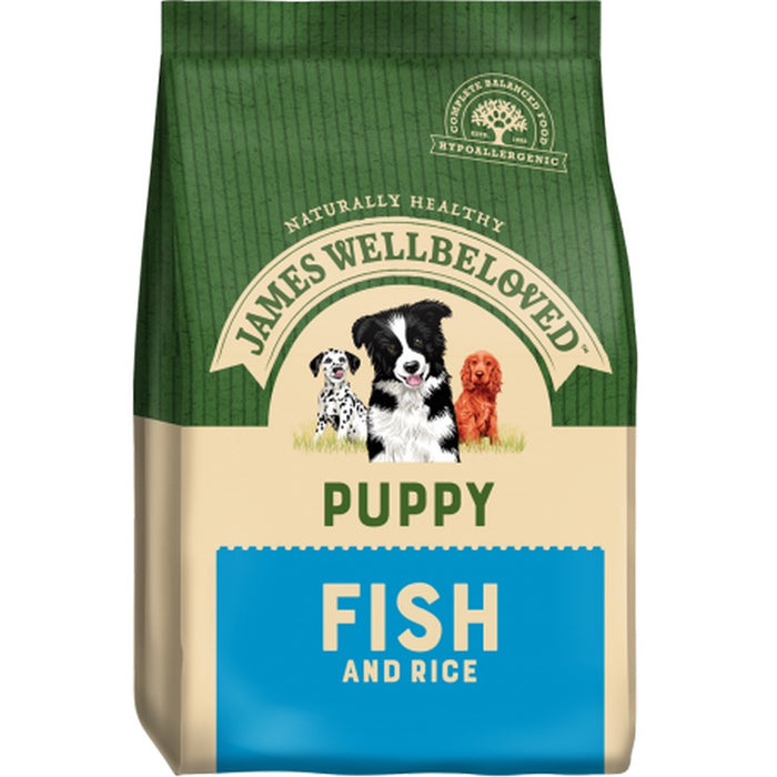James Wellbeloved Puppy Dry Dog Food - Fish & Rice - 7.5kg - PetMonkey