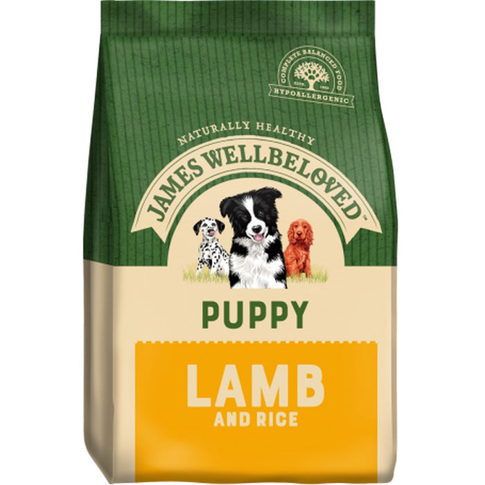 James Wellbeloved Puppy Dry Dog Food - Lamb & Rice - 15kg - PetMonkey