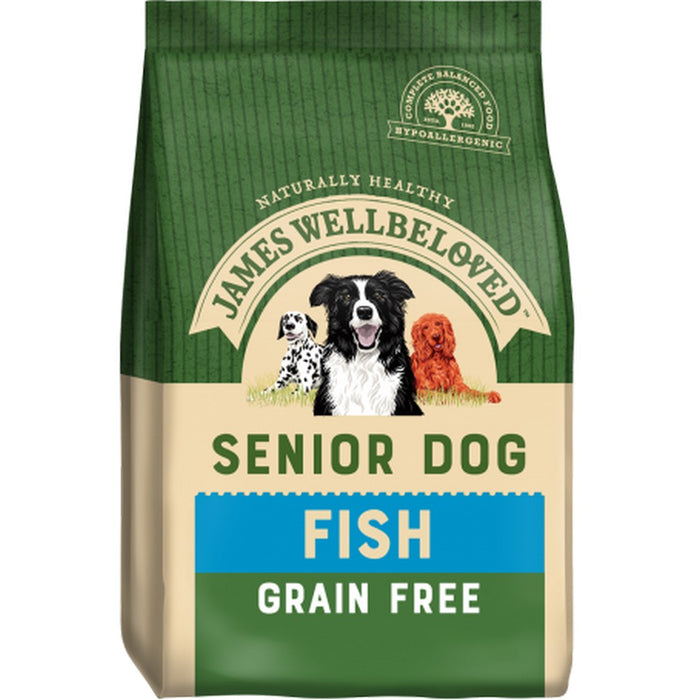 James Wellbeloved Senior Grain Free Dry Dog Food - Fish - 10kg - PetMonkey