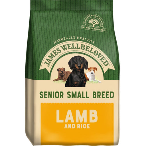 James Wellbeloved Senior Small Breed Dry Dog Food - Lamb & Rice - 7.5kg - PetMonkey