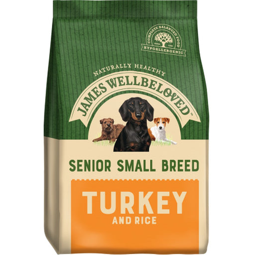 James Wellbeloved Senior Small Breed Dry Dog Food - Turkey & Rice - 7.5kg - PetMonkey