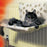 Danish Design Kumfy Kradle Radiator Cat Bed - Paw Print - Wide Fitting - PetMonkey