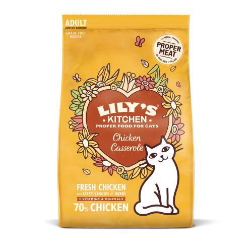 Lilys Kitchen Adult Dry Cat Food - Chicken Casserole - 2kg - PetMonkey