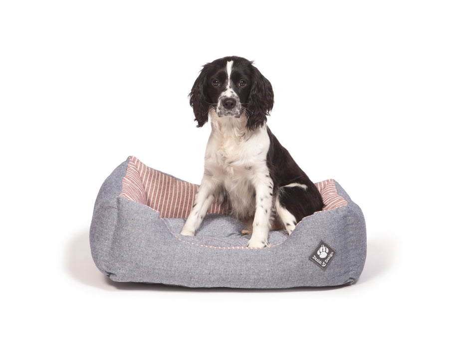 Danish Design Maritime Snuggle Dog Bed - Red - XL - PetMonkey