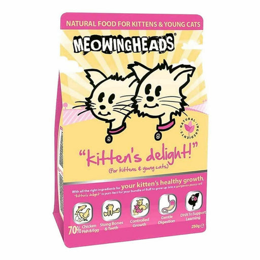 Meowing Heads Dry Cat Food - Kittens Delight - 250g - PetMonkey