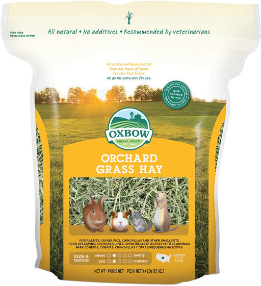 Petlife Oxbow Orchard Grass Hay Small Pet Food - 425g - PetMonkey