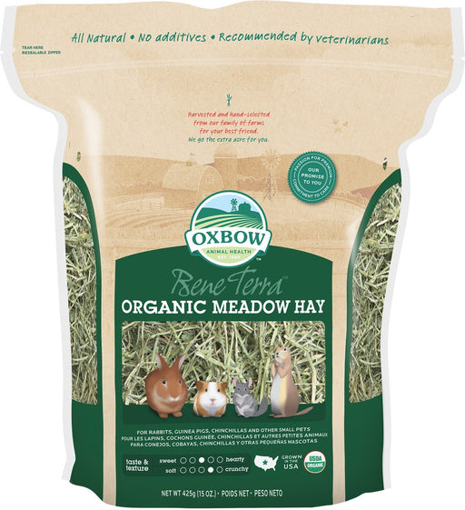Petlife Oxbow Organic Meadow Hay Small Pet Food - 1.1kg - PetMonkey
