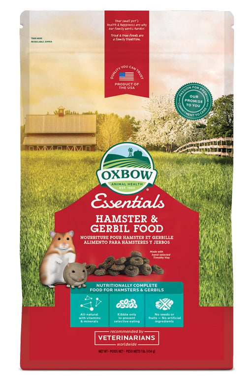 Petlife Oxbow Essentials Hamster & Gerbil Food - 1lb - PetMonkey