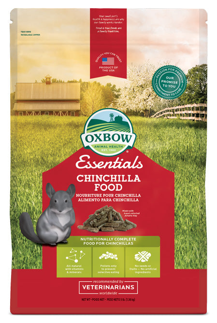 Petlife Oxbow Essentials Chinchilla Food - 1.4kg / 4.5kg - PetMonkey