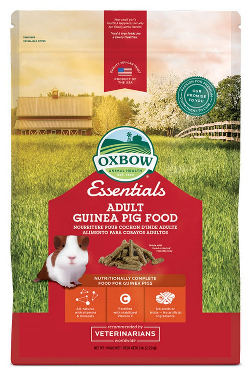 Petlife Oxbow Essentials Adult Guinea Pig Food - 2.2kg / 4.5kg - PetMonkey