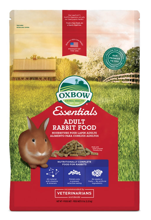 Petlife Oxbow Essentials Adult Rabbit Food - 2.2kg / 4.5kg - PetMonkey