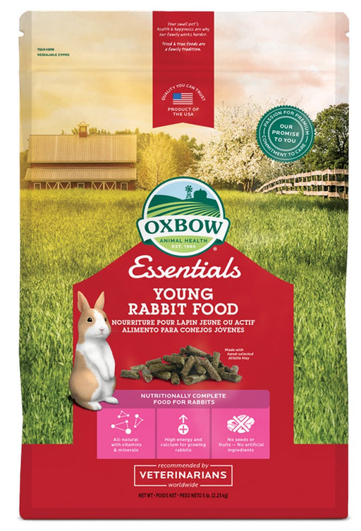 Petlife Oxbow Essentials Young Rabbit Food - 2.2kg / 4.5kg - PetMonkey