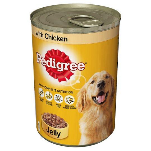 Pedigree Adult Wet Dog Food - Chicken In Jelly - 12 x 385g - PetMonkey