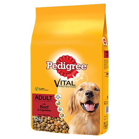 Pedigree Complete Adult Dry Dog Food - Beef & Vegetables - 12kg - PetMonkey