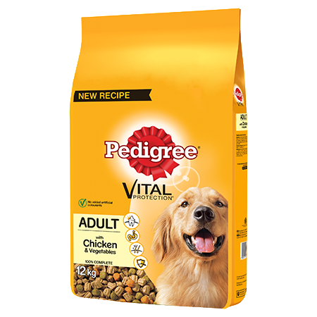 Pedigree Complete Adult Dry Dog Food - Chicken & Vegetables - 12kg - PetMonkey