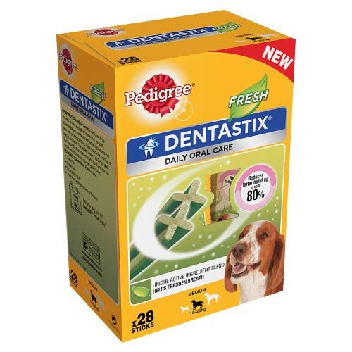 Pedigree Dentastix Fresh Medium Dog Treats - Box of 28 - PetMonkey