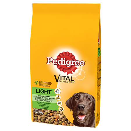 Pedigree Light Complete Dry Dog Food - Chicken & Vegetables - 10kg - PetMonkey