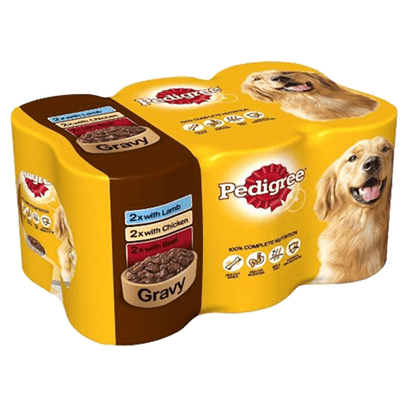 Pedigree Adult Wet Dog Food - Mixed Selection In Gravy - 24 x 400g - PetMonkey