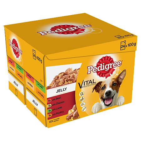 Pedigree Adult Wet Dog Food - Pouch Favourites In Jelly - 24 x 100g - PetMonkey