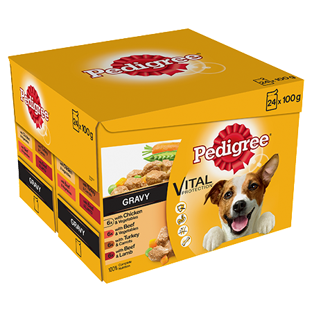 Pedigree Adult Wet Dog Food - Real Meals In Gravy - 24 x 100g - PetMonkey