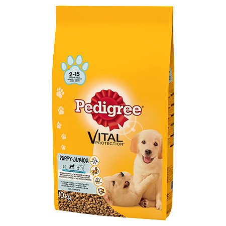 Pedigree Puppy Medium Dry Dog Food - Chicken & Rice - 10kg - PetMonkey