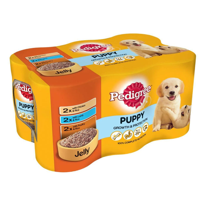 Pedigree Puppy Wet Dog Food - Mixed Selection In Jelly - 24 x 400g - PetMonkey