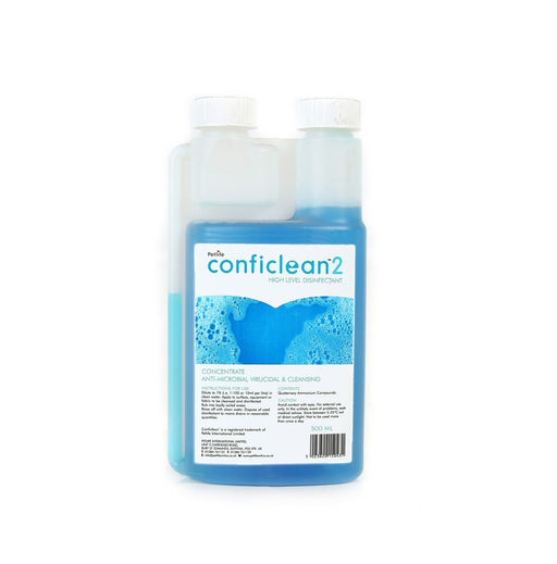Petlife Confi-Clean 2 Concentrated High Level Disinfectant - Unscented - 500ml - PetMonkey