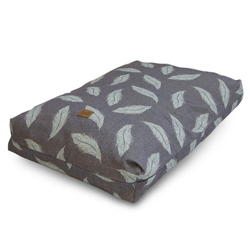 Danish Design Retreat Eco Wellness Duvet Dog Bed - Grey / Duck Egg - M - PetMonkey