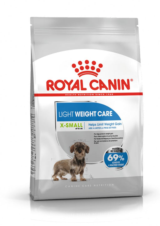 Royal Canin X-Small Light Weight Care Adult Dry Dog Food - 1.5kg (Pack of 2) - PetMonkey