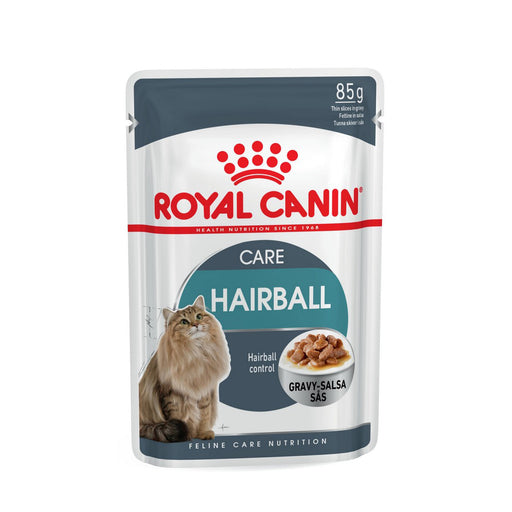 Royal Canin Hairball Care In Gravy Adult Wet Cat Food - 12 x 85g - PetMonkey