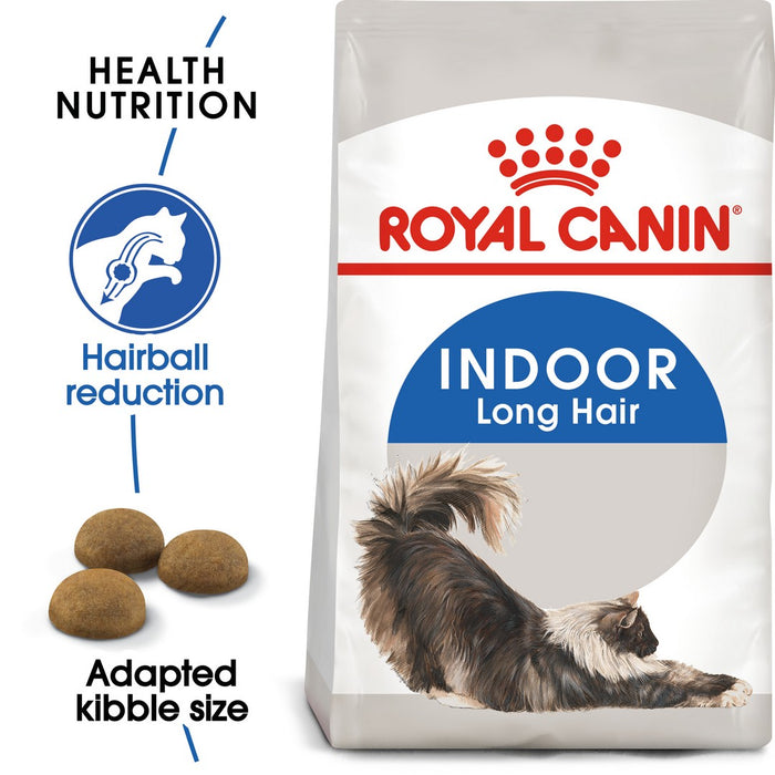 Royal Canin Home Life Indoor Long Hair Dry Cat Food - 4kg - PetMonkey
