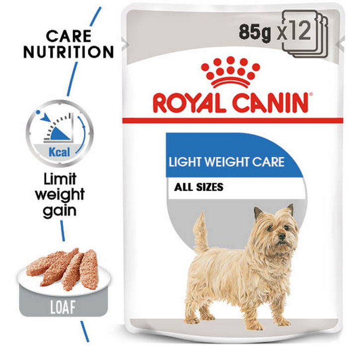 Royal Canin Light Weight Care Adult Wet Dog Food - 12 x 85g - PetMonkey