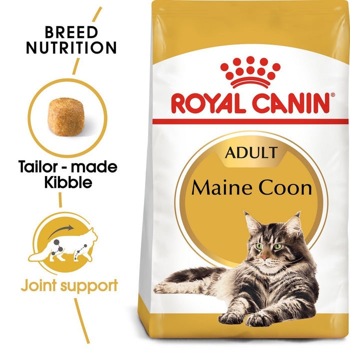 Royal Canin Maine Coon Adult Dry Cat Food - 4kg - PetMonkey