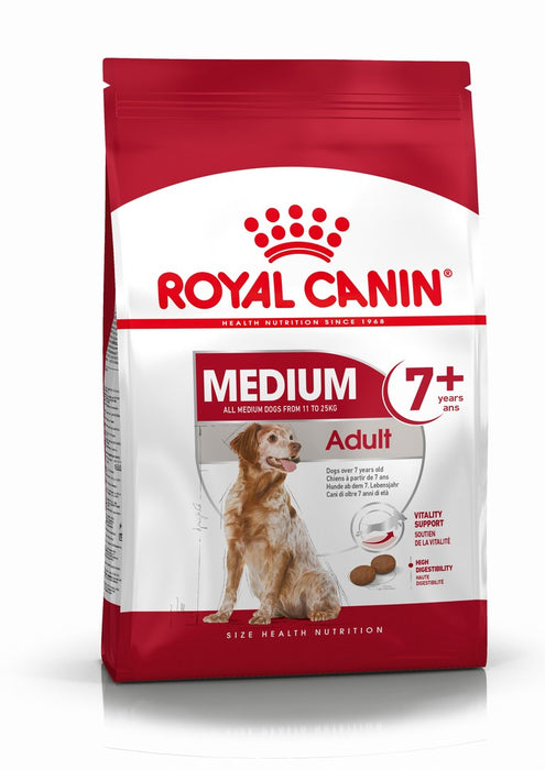 Royal Canin Medium Adult 7+ Dry Dog Food - 15kg - PetMonkey