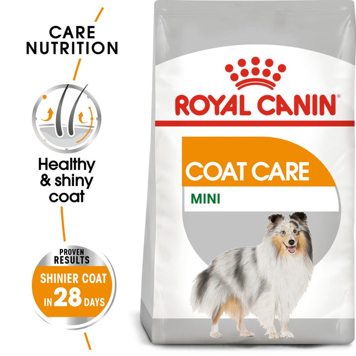 Royal Canin Mini Adult Coat Care Dry Dog Food - 3kg - PetMonkey